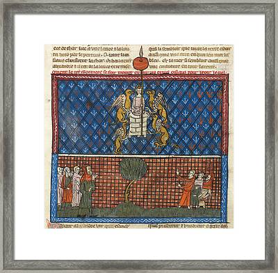 Alexander Carried By Griffins Framed Print by British Library