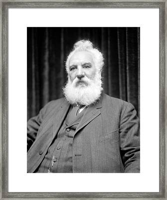 Alexander G. Bell, Scottish-us Inventor Framed Print by Science Photo Library