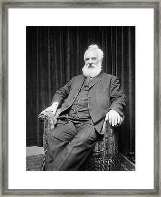 Alexander Graham Bell Framed Print by Underwood