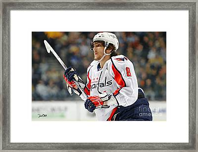 Alexander Ovechkin Framed Print by Don Olea