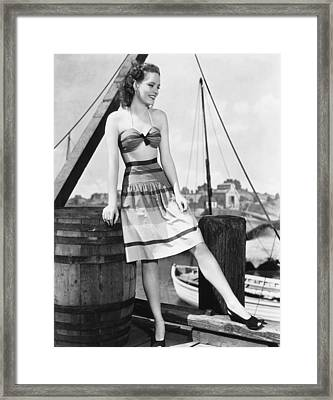 Alexis Smith, Ca. Early 1940s Framed Print by Everett