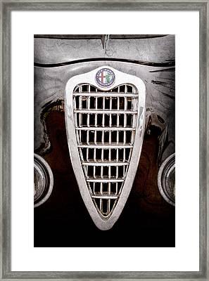 Alfa Romeo Milano Grille Emblem Framed Print
