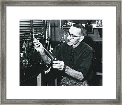 Alfred Hershey Framed Print by National Library Of Medicine