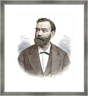 Alfred Nobel Framed Print by Science Photo Library