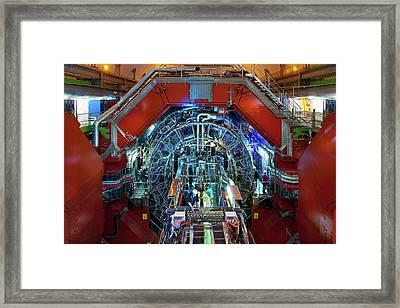 Alice Detector At Cern Framed Print by Cern