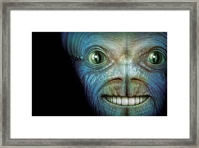 Alien Face Framed Print