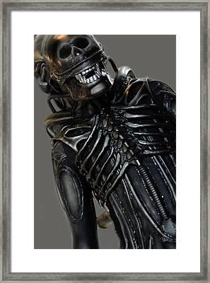 Alien In Public Framed Print