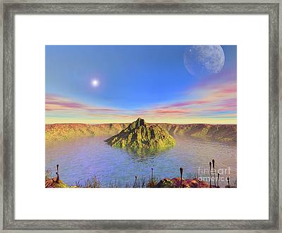 Alien Lake, Conceptual Artwork Framed Print by Walter Myers