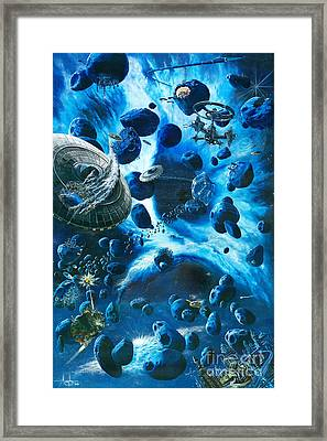 Alien Pirates  Framed Print by Murphy Elliott