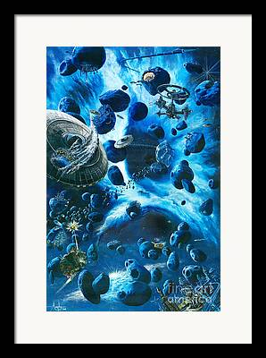 Cosmic Space Paintings Framed Prints
