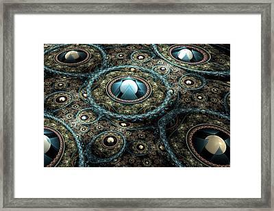 Alien Station Framed Print by Svetlana Nikolova