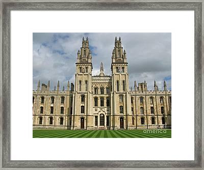 All Souls Oxford Framed Print by Ann Horn