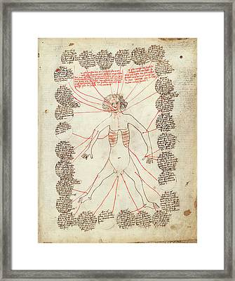 Allegorical Medical Man Framed Print by Library Of Congress