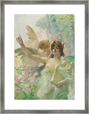 Allegory Of Music Framed Print