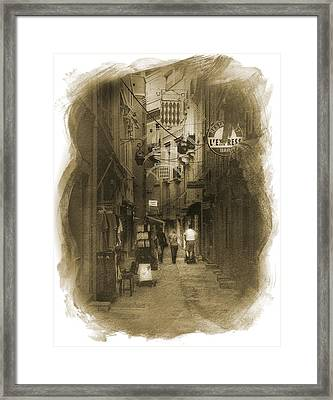 Framed Print featuring the photograph Alley by Cecil Fuselier