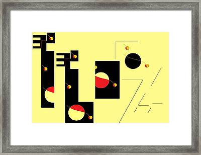 Alluring In Yellow Framed Print