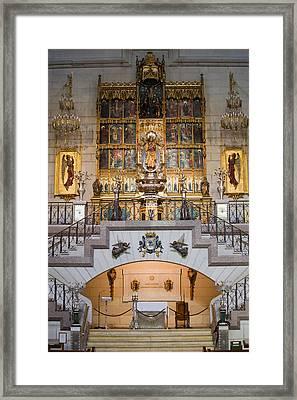 Almudena Cathedral Altar Framed Print by Artur Bogacki