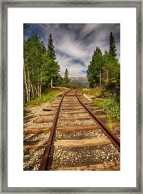 Along Boreas Pass Framed Print by Christopher L Nelson