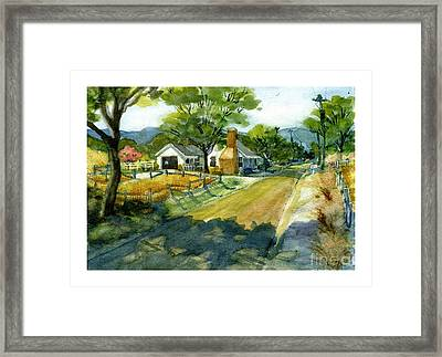Along Stoney Creek Road Framed Print