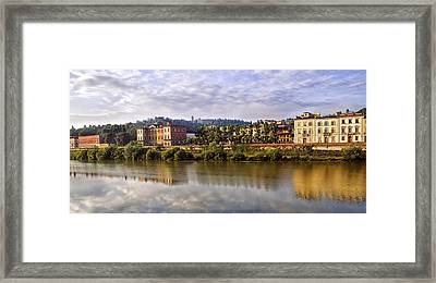 Along The Arno Framed Print