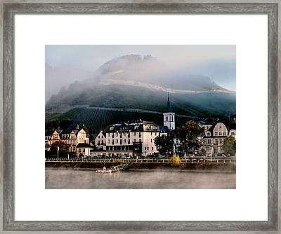 Framed Print featuring the photograph Along The Rhine by Jim Hill