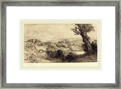 Alphonse Legros, Top Of The Hill Le Haut De La Colline Framed Print by Litz Collection