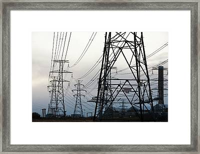 Aluminium Smelting Plant Framed Print by Ashley Cooper