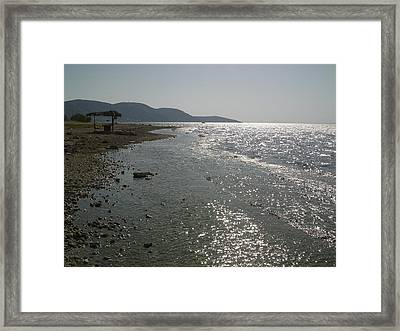 Alyki Beach  Framed Print by Katerina Kostaki