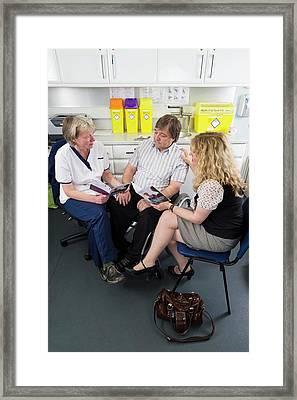 Alzheimer's Consultation Framed Print by Jim Varney