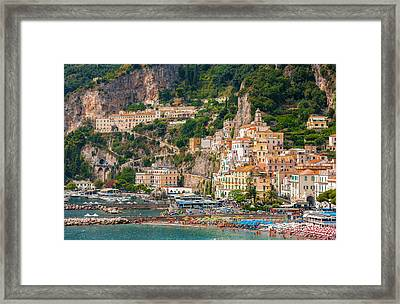 Amalfi City Framed Print by Gurgen Bakhshetsyan