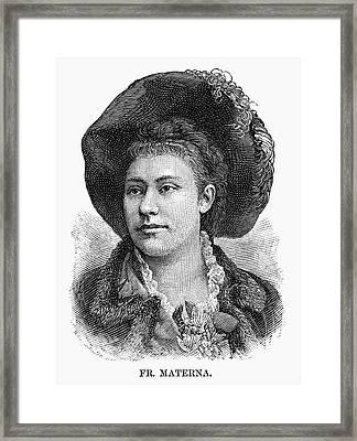 Amalie Materna (1844-1918) Framed Print by Granger