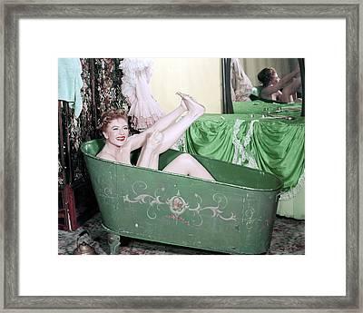 Amanda Blake In Gunsmoke  Framed Print by Silver Screen