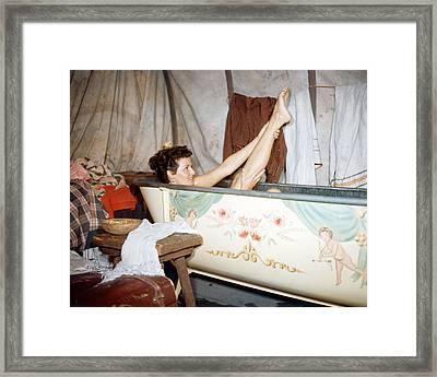 Amanda Blake Framed Print by Silver Screen