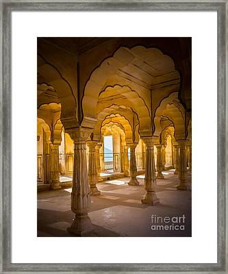 Amber Fort Arches Framed Print