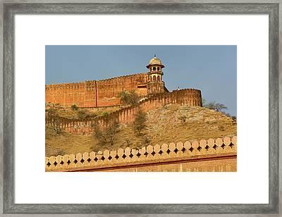 Amber Fort, Jaipur, India Framed Print by Adam Jones