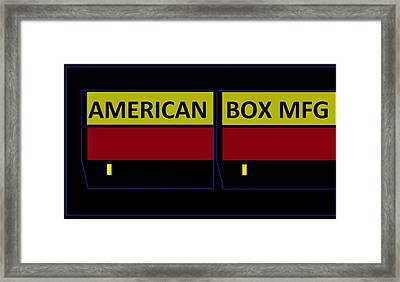 American Box Mfg Framed Print by Cletis Stump