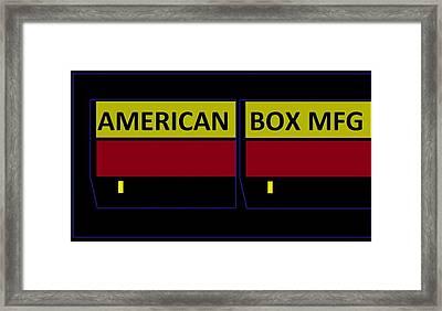 American Box Mfg Framed Print
