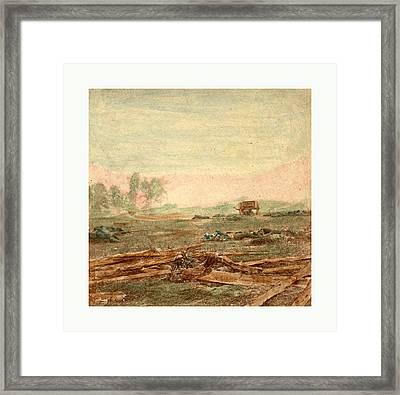 American Civil War View On Battle Field Of Antietam Where Framed Print