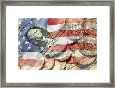 American Currency Framed Print by Les Cunliffe