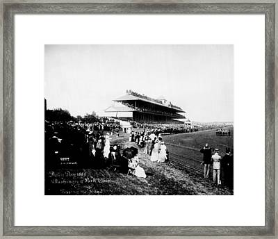 American Derby Horse Racing Washington Park Framed Print by Retro Images Archive