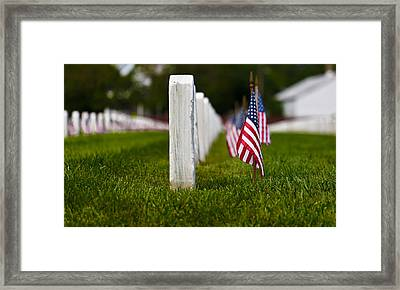 Framed Print featuring the photograph American Flag by Jerry Gammon