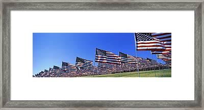American Flags In Memory Of 911 Framed Print