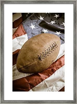 American Football Framed Print by Edward Fielding