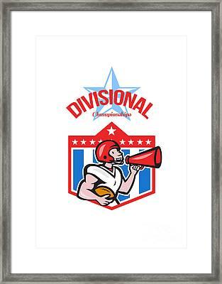 American Football Quarterback Divisional Champions Framed Print by Aloysius Patrimonio
