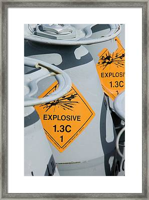 American Military Explosive Rockets Framed Print
