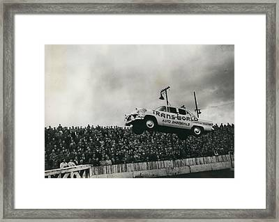 American Stunt Car Drivers Give Displays In Edinburgh Framed Print by Retro Images Archive