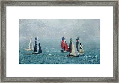 Americas Cup Racing Framed Print by Scott Cameron