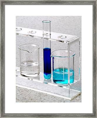 Ammonia And Copper Sulphate Reaction Framed Print