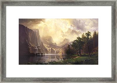 Among The Sierra Nevada Mountains California Framed Print