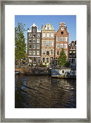 Amsterdam - Old Houses At The Herengracht Framed Print